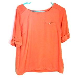 Coral blouse The Limited